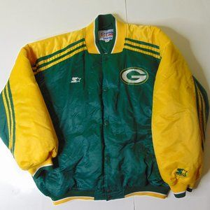Starter Packers Quilted Jacket NFL Football 90s